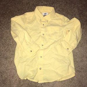 5t yellow button up shirt